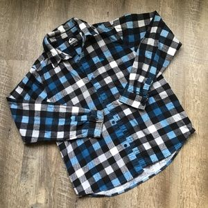 🍂🍃Kids Large Quicksilver flannel button up
